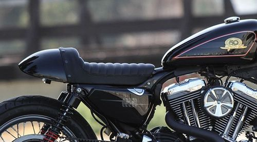 Asiento Cafe Racer - H-D Sportster '86-Post. - Burly Brand