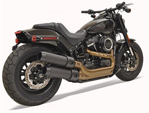 "Colas de Escape 4"" H-D Fat Bob '18-Post. - Bassani"
