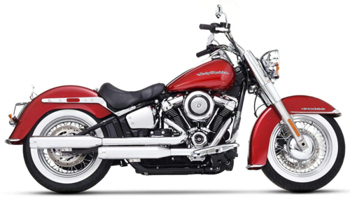 "Colas de Escape 3.5"" H-D Softail FLSTC/FLSTN '18-Post. - Rinehart"