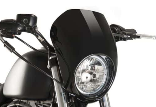 Semicarenado (negro brillo) - H-D XL883L/N/1200N, Dyna FXDB/FXDF - Custom Acces