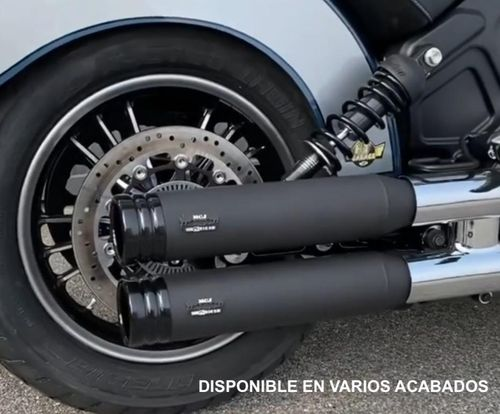 Colas de Escape (sonido variable) - Homologado - Indian Scout '15-Post. - MCJ Exhausts